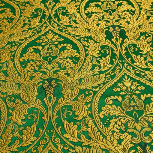 "Brocade ""Domes"" green / gold"