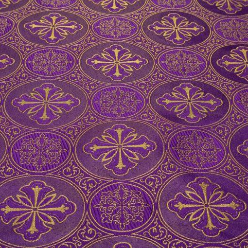 "Brocade ""Byzantium"" purple / gold"