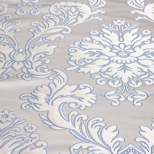 "Brocade ""Bathsheba"" white / blue"