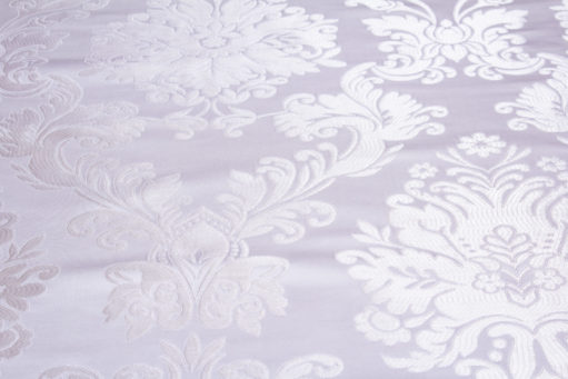 "Brocade ""Bathsheba"" white / silver"
