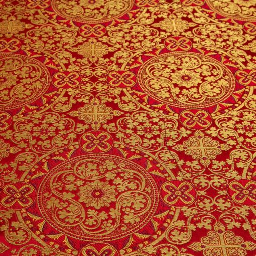 "Brocade ""Eastern"" red / gold"