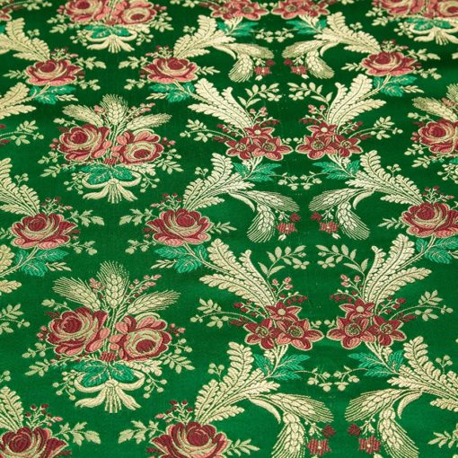 "Brocade ""Ears with roses"" green"