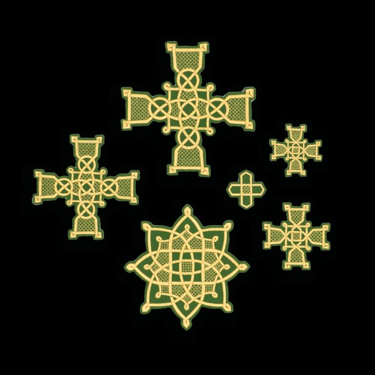 "Embroidered cross ""Rostov"""