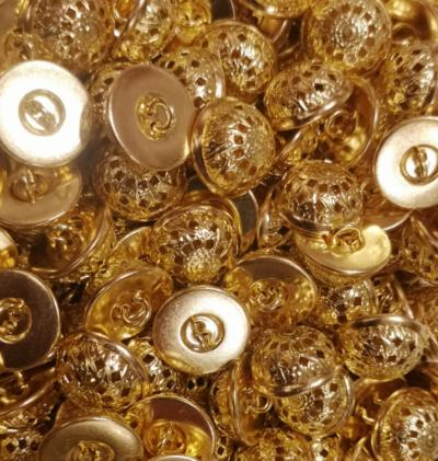 """Buttons """"Sun"""" gold"""