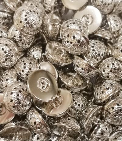 """Buttons """"Sun"""" silver"""
