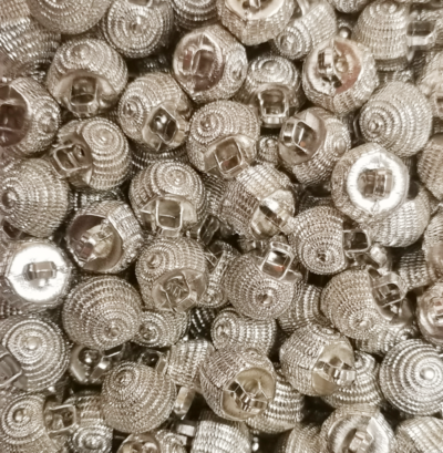 """Buttons """"Shell"""" silver"""
