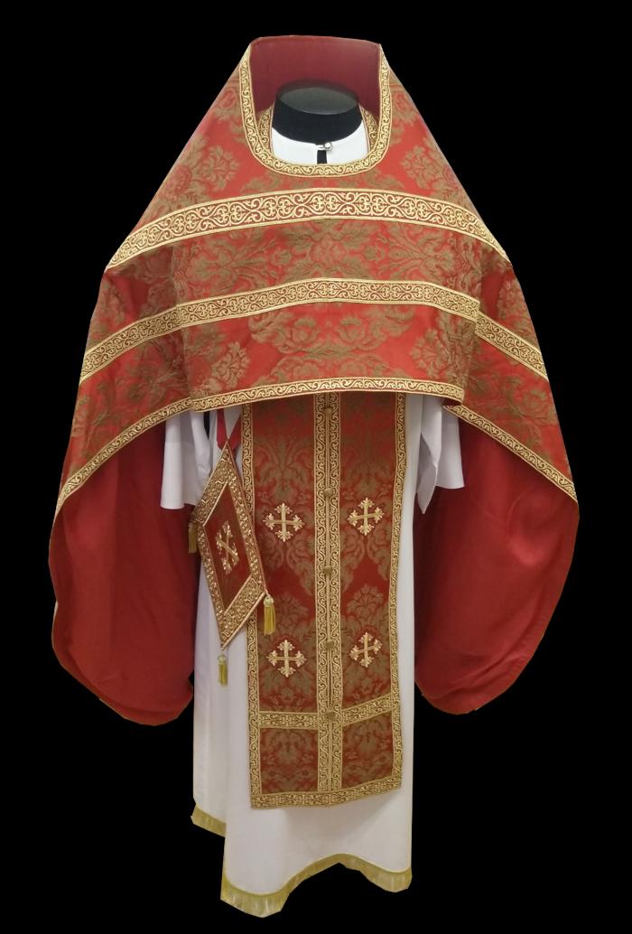 Иерейское облачение из итальянской ткани с добавлением натурального шёлка