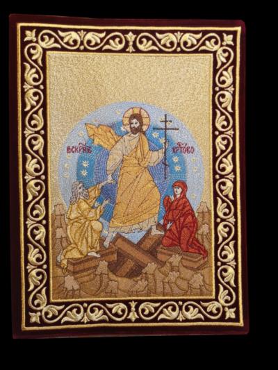 """Обложка на чиновник бордовая икона """"Воскресенье"""""""