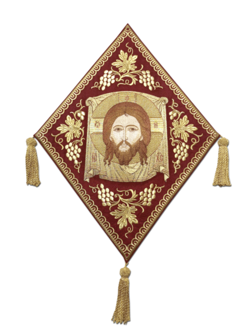 "Mace with an embroidered icon ""Savior on Ubrus"""