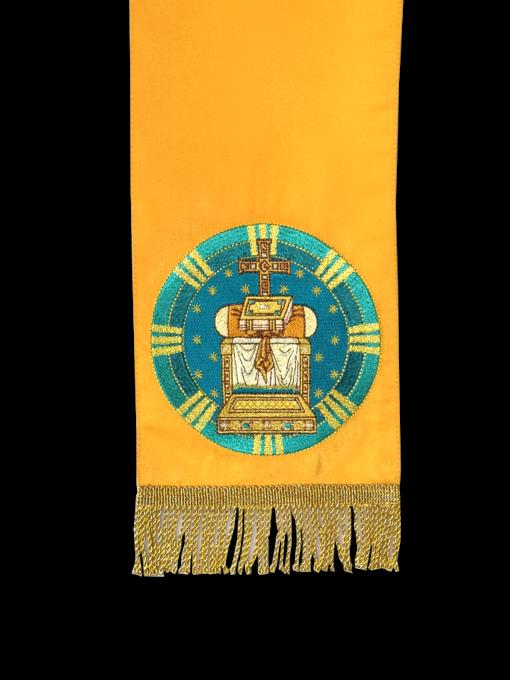 """Закладка для Евангелия с вышитой иконой """"Этимасия - Престол уготованный"""""""