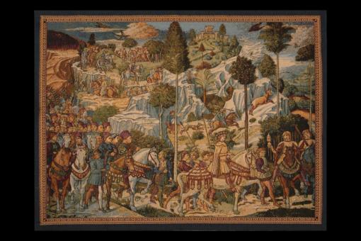 Гобелен Охотники на снегу