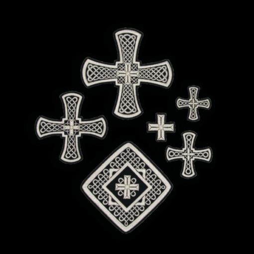 """Крест вышитый """"Решетка"""""""