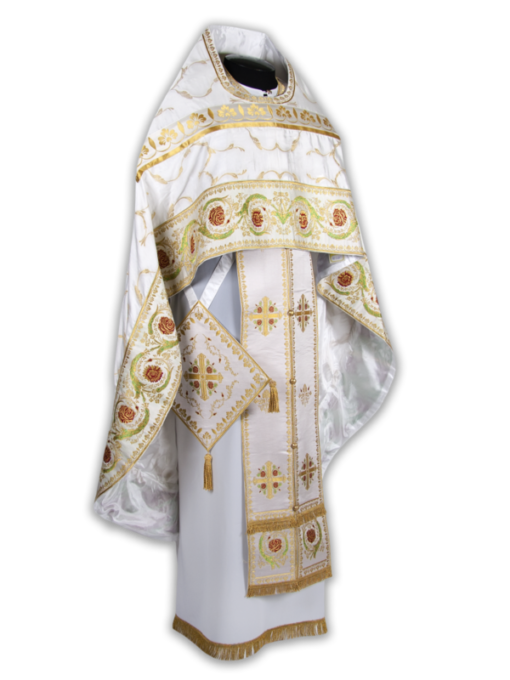 Priestly vestments from a coupon