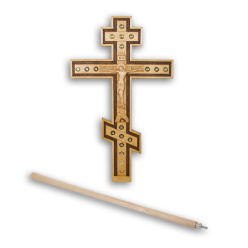 Carved cross with reliquaries universal
