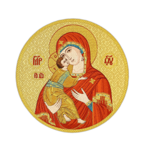 """Embroidered icon """"Our Lady of Vladimir"""""""
