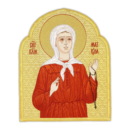 """Icon embroidered """"Matrona of Moscow"""""""